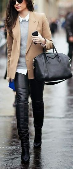 Black Leather High Knee Boots                                                                                                                                                      More