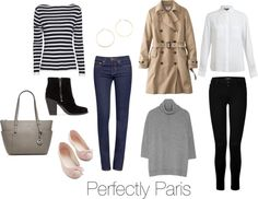 Perfectly Paris!  Except I'd go a little America with a skinny bootcut to balance out my hips a bit.