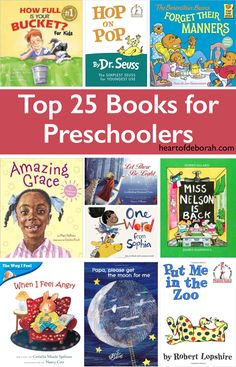 Top 25 Books for Preschoolers. Includes diverse books for learning, social emotional development and laughter for your preschool children. Preschool Books, Kids Learning Activities, Kindergarten Activities, Preschool Activities, Teaching Ideas, Proverbs For Kids, Proverbs 31, Books For Moms, Kid Books