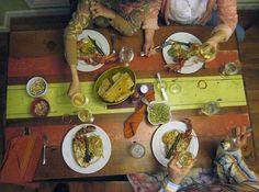 patrick barber vernal equinox dining table aerial