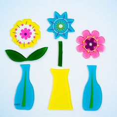 GelWonder | Window Clings | Small Bag of Dainty Vase | Spring Flowers | Can be used on any non-porous surface | www.homearama.co.uk