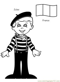 free printable coloring page kids from around the world 006 cartoons