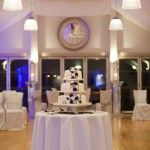 Drinks reception in the Garden Room at Wasing Park wedding venue Berkshire