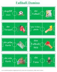Drachenstübchen: Fußball Domino für Fußball Freunde