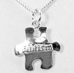 Autism Awareness Puzzle Charm Necklace
