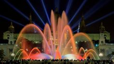 """Montjuïc's Magic Fountain was built for the 1929 International Exhibition in Barcelona. The well-known """"Piromusical"""", the closing event for Barcelona's main festival, La Mercè, is held here."""