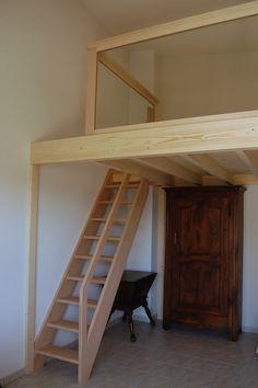 Build a loft bed chambres pr f rer et bricolage - Construire une mezzanine suspendue ...