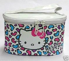 Hello Kitty Leopard Cosmetic Vanity Bag Pouch Makeup Purse Sanrio Japan Gift