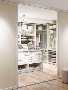 Ideas for our next home. 40 Pretty Feminine Walk-In Closet Design Ideas