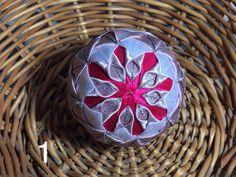 Dekorácie - vianočné patchworkové gule staroružová v kombinácii s bielou a pink - 7147198_