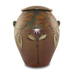 Dragonfly Ceramic Cremation Urn - Harvest Time