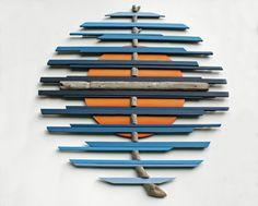 Wood Wall Art | Driftwood Art | 3 Circles | Jurassic coast #3 | Large Wall Art | Wall Art | Wood Sculpture | Reclaimed wood | Driftwood | by…