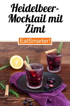 Blueberry Cocktail, Blueberry Juice, Aperitif Cocktails, Clean And Delicious, Can I Eat, Frozen Blueberries, Food Shows, Alcohol Free, Holiday Recipes