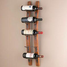 Barrel Stave Wall Wine Rack - contemporary - wine racks - Wine Enthusiast Companies
