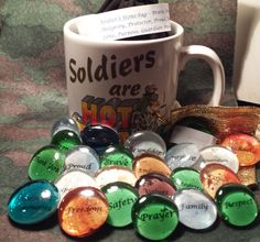 Military Soldier's Stone bag Words that Inspire by TarotFromHeaven, $20.00