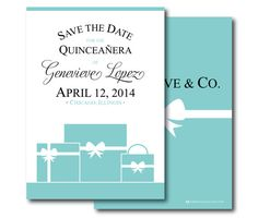 Invitations Trend: Save the Date | Quinceanera, Quinceanera ...