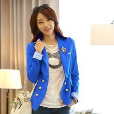 "@cs.ordersis's photo: ""Blazer : JY72481 BLUE ""Original : china Material : Cotton Bust : 88cm - Open Sleeve : 64cm Length : 55cm With Shoulder Pad 450grams"" Rp180,000  #blazer #ordersis"""