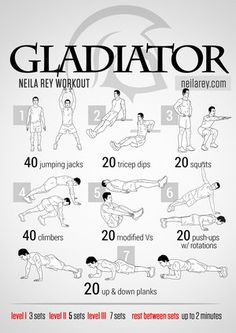 Neila Rey workouts - Gladiator Workout