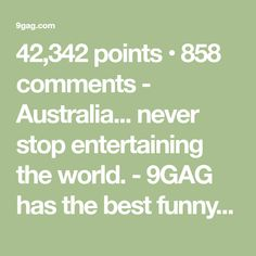 never stop entertaining the world. Best Funny Pictures, Funny Pics, Reddit Funny, Movie Tv, Gifs, Gaming, Internet, Australia, Cosplay