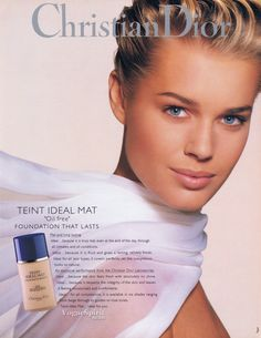 REBECCA ROMIJN FOR CHRISTIAN DIOR ADVERTISEMENT 1994 MAKE UP BY: TYEN