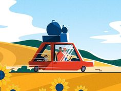 Initial style frame for a recent spot I directed for Eurotunnel. Check out the final spot here.