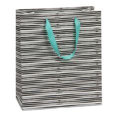 Monochrome stripe large gift bag