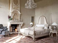 Image detail for -Modern Classic Bedroom with unique fireplace