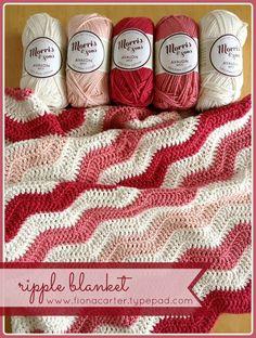 baby girl ripple blanket   Love the colors