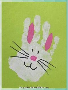 Great Hand Bunny Print Easter Crafts # Bunny # Crafts # Easter # … – Basteln – Wedding Home Daycare Crafts, Toddler Crafts, Spring Crafts For Kids, Art For Kids, Summer Crafts, Preschool Crafts, Kids Crafts, Creative Crafts, Diy Ostern
