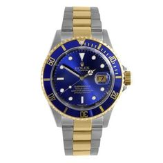 Pre-Owned Rolex Men's Gold Stainless Steel Submariner Sport Model Watch