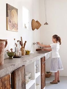 Have you thought about having a concrete countertop in your kitchen? It's surprisingly stylish, understandably hardwearing and adds a really unique touch to your kitchen.
