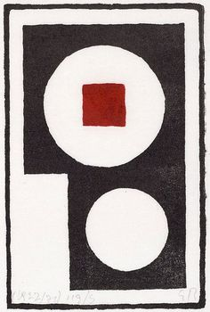 'Red square in white circle' by Erich Buchholz, 1920