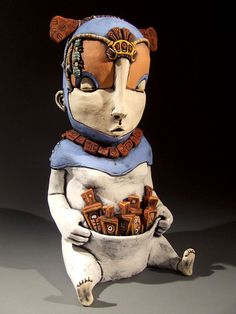Great ceramic sculpture by Simon Boses aka Mudmonkey