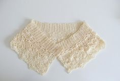 Ecru Vintage Style Crochet Collar READY TO SHIP by TheSteadyHand, $20.00