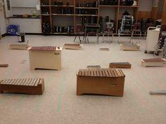 Orff instrument set up