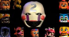 Five Nights At Freddy's 2 All Animatronics