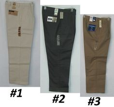 Dockers D4 True Chino Relaxed Fit Men's Pleated Pants Size's: 30-44 NEW #DOCKERS #KhakisChinos 26.99