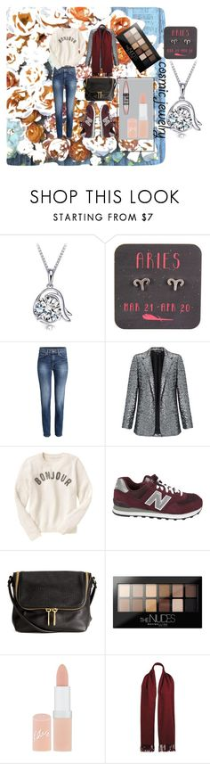 """Sans titre #79"" by isatic ❤ liked on Polyvore featuring Miss Selfridge, Gap, New Balance, Maybelline, Rimmel and Wilsons Leather"