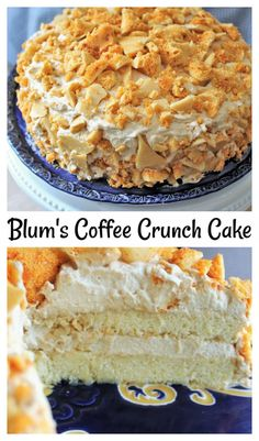 Retro lemon chiffon slathered with coffee whipped cream and covered with honeycomb coffee candy! Flavored Whipped Cream, Whipped Cream Frosting, Honeycomb Candy, Coffee Candy, Crumb Cakes, Seasonal Fruits, Cupcake Cakes, Cupcakes, Crunch Cake