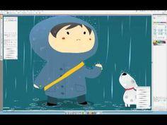 Rainy Days / Time-lapse drawing in Adobe Illustrator