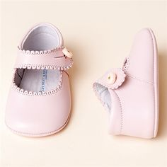 Pink Mary Janes Girl Shoes | Christening/Baptism Collection - Designer Gowns & Shoes