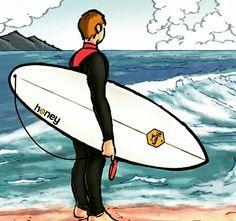 """Surf&Comics presenta """"Surfistas desconocidos"""" #happyhoneypeople"""
