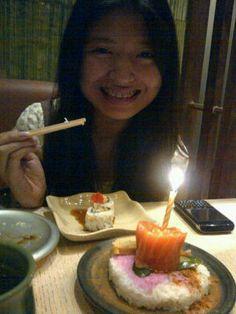 @Li5y: Got a free Birthday Sushi on my birthday :) #BikinHidupSehidupnya