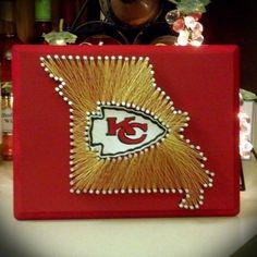 Kansas City Chiefs String Art! State string art, string art, KC Chiefs, Chiefs, Arrowhead Stadium, Missouri, Missouri Art