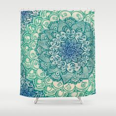 Emerald+Doodle+Shower+Curtain+by+Micklyn+-+$68.00