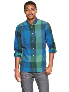 Lived-in wash oversized checkered shirt Product Image