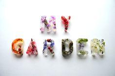 My Garden Typography by Petra Blahova