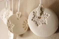 Paper clay ornaments