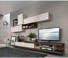 Luxury Die Wohnwand C von Livitalia aus Italien hat integrierte S ulen und eine TV Halterung