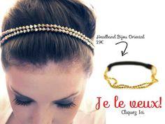 135febfd4c8cc4 Où acheter un headband chaîne doré chic et mode mais aussi pas cher. Chez  accessoires